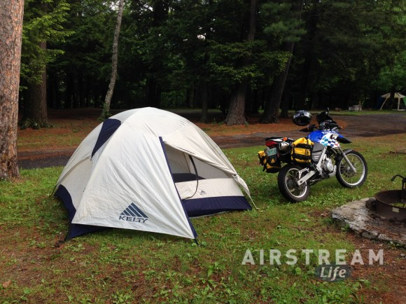 Wilmington NY tent camping motorcycle