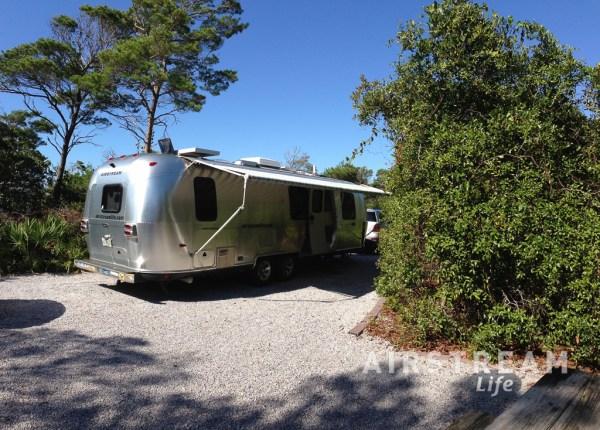 Henderson State Beach Airstream campsite