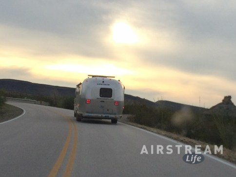 Big Bend towing Airstream