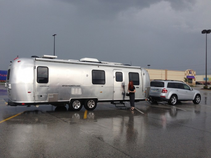 Airstream wet parking lot IN