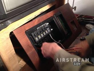 Airstream custom power panel
