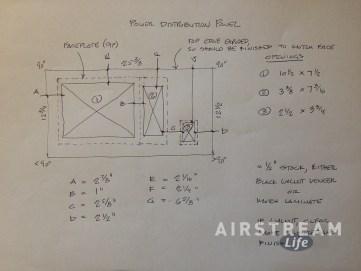 Power panel fascia diagram