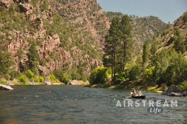 Flaming Gorge downstream fishermen