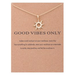 A Mazel necklace of Good Vibes. Touch the gorgeous pendant any time for some reassurance of Good Vibes.