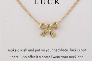 Gift of Luck Bow Necklace