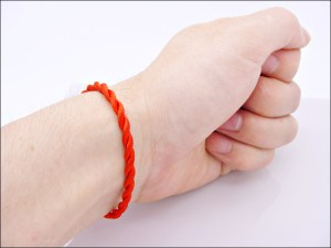 Red String Weave Bracelet