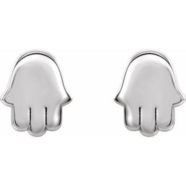 Gold Hamsa Stud Earrings