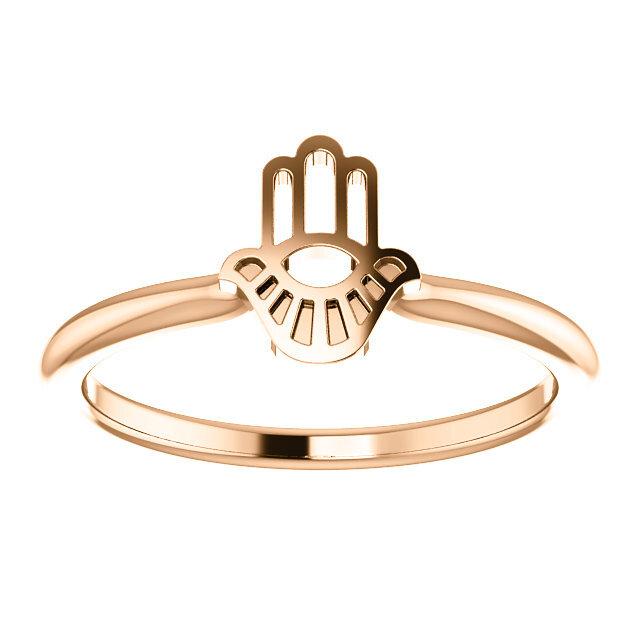 Hamsa Rose Gold Ring 3