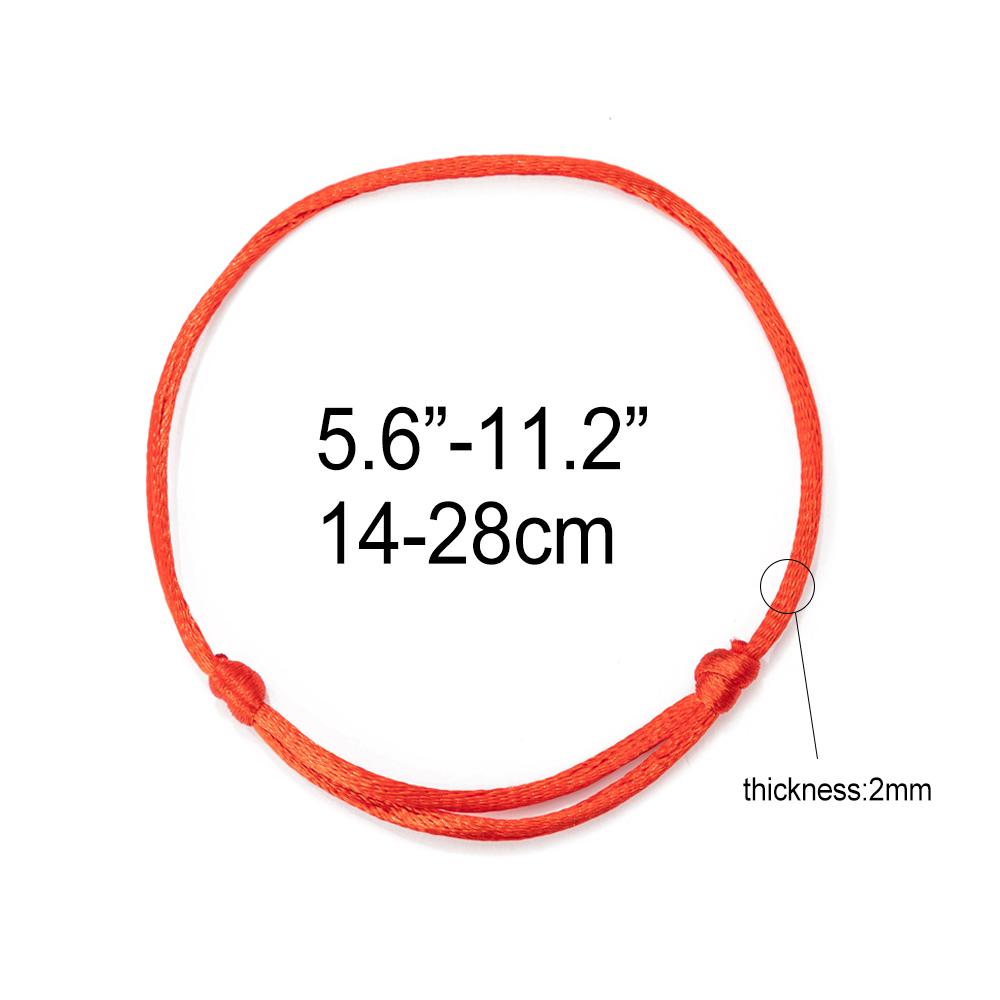 red string bracelet adjustable 2