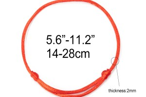 red string bracelet adjustable 2