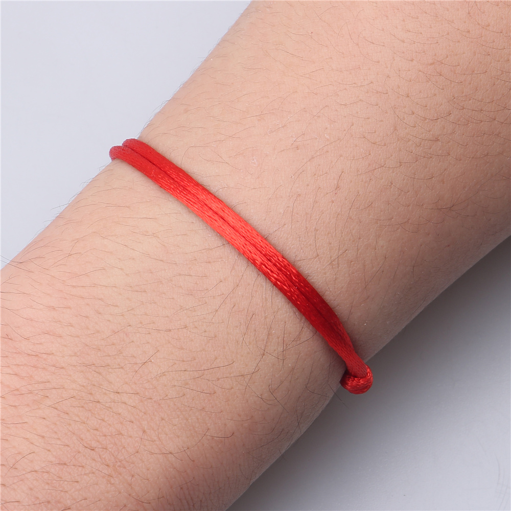 red string bracelet adjustable 3