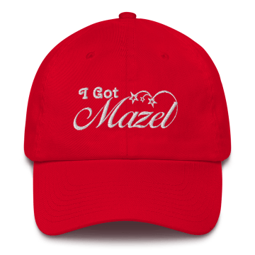 Red MAZEL Lucky Hat