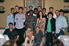 From left to right (kind of): Wyck Godfrey (bottom), unlisted, Will Poulter, Ki Hong Lee, Joe Adler, Ellen Goldsmith-Vein, Aml Ameen, unlisted, Dexter Darden, Wes Ball (hat), Kaya Scodelario, Chris Sheffield, Alex Flores, Blake Cooper, Thomas Brodie-Sangster, Lee Stollman, unlisted