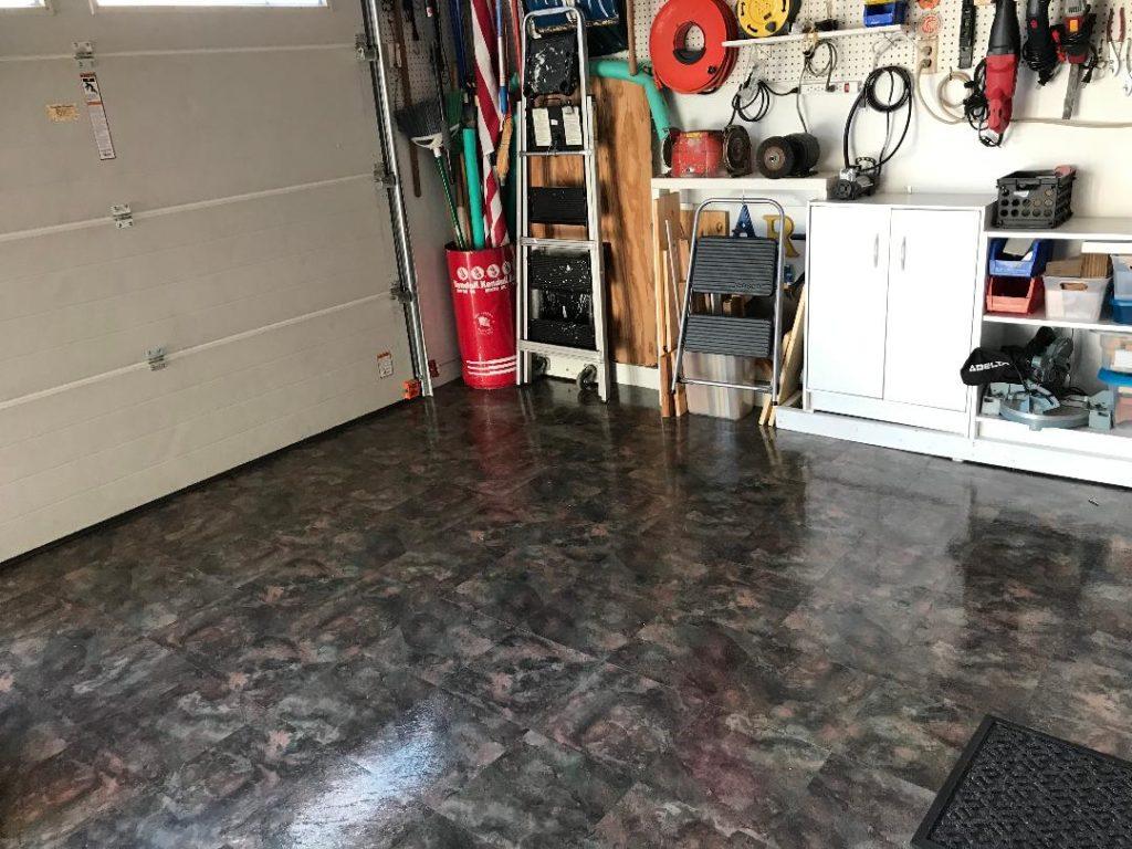 vinyl flooring in garage vinyl