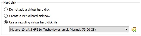 This picture is shown the first step to install Mac OS on VMware on Windows OS