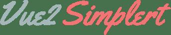 Vue2-Simplert Logo Typography