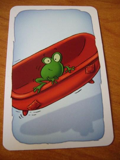 hay que coger la rana verde
