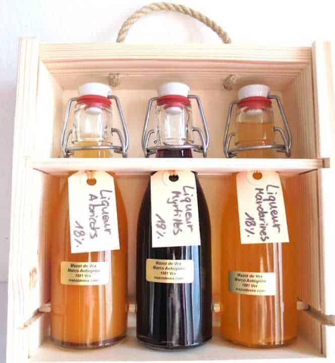 Coffret liqueur ou eau-de-vie artisanale