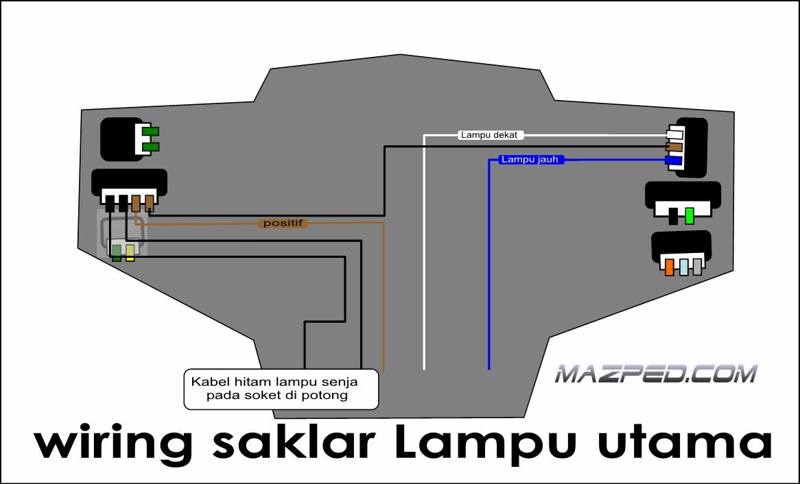 wiring diagram lampu kepala jarak pendek images