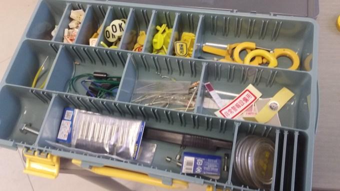 消防設備士の小道具箱。