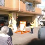 煙にドキドキ!カメラにドキドキ!別府のマンションでオモシロ消防訓練を開催しました
