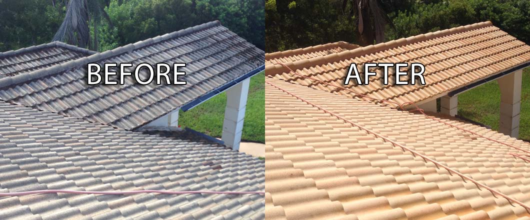 soft wash roof cleaning in naples ft