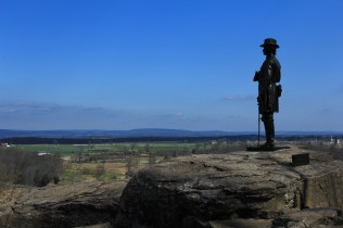 General Warren Statue on Little Round Top