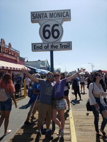End of Route 66 Santa Monica, CA
