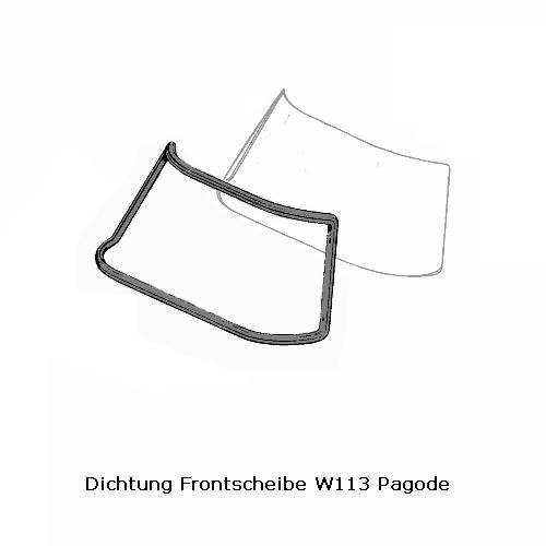 Frontscheibendichtung für Mercedes Benz W113 Pagode SL