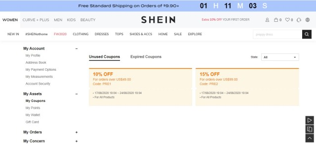 Shein Store Review  MegaBonus