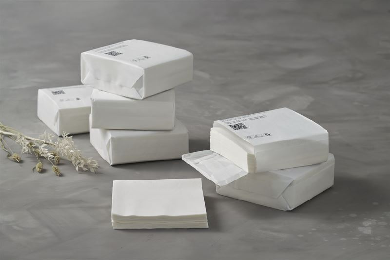 We also provide custom packaging solutions including custom design and packaging branding. Paper Wrapped Napkins The Transition From Plastic To Fiber Based Packaging Has Begun Duni Ab