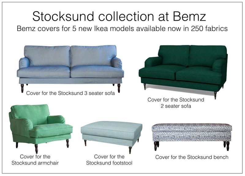 ikea stocksund chair covers washable kitchen cushions news from bemz makers of designer
