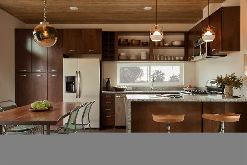 prefab kitchen cabinets laminate flooring armstrong origins help make livinghomes c6 a low cost zero energy carbon and leed platinum level production home