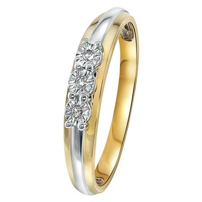 Bicolor gouden ring met diamant 003ct  Lucardinl