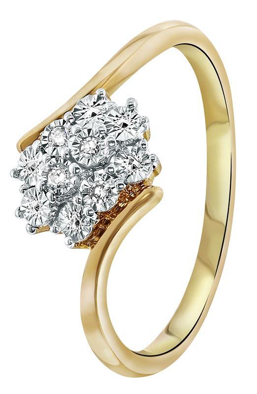Bicolor gouden ring met diamant 004ct  Lucardinl