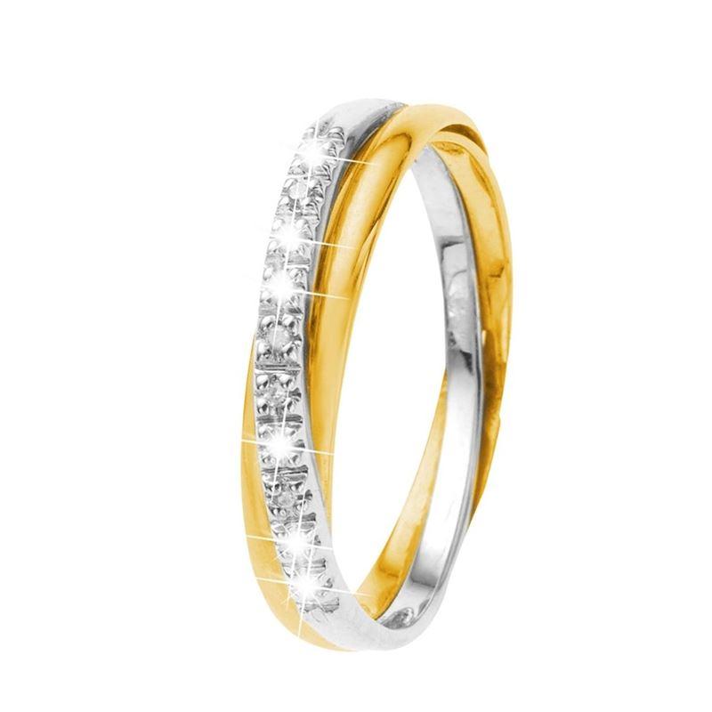 Bicolor gouden ring met diamant  Lucardinl