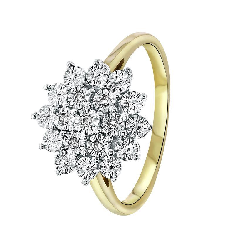 Bicolor gouden ring met diamant 006ct  Lucardinl