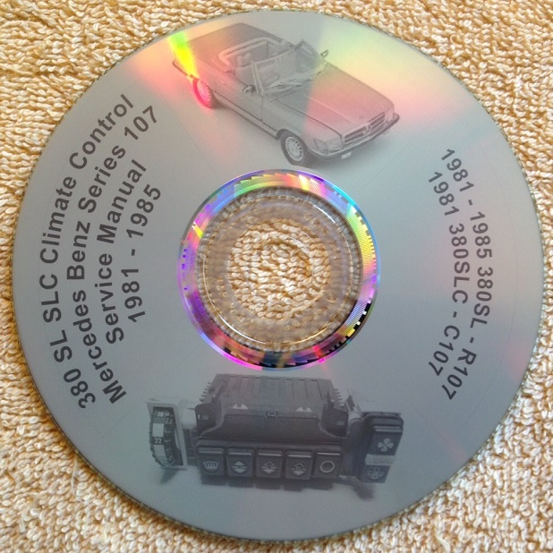 hight resolution of mercedes benz 380sl 107 climate control manual on cd mercedes benz 450sl
