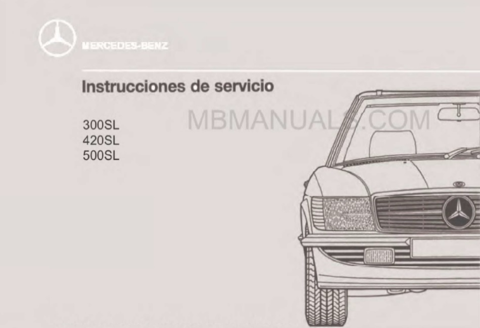 Mercedes Benz Series 107 Owners Operators Manuals