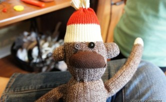 Sock Monkey Up Close