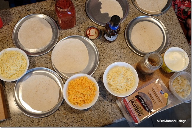 All The Ingredients To Make Dempster's Tortilla Pizza
