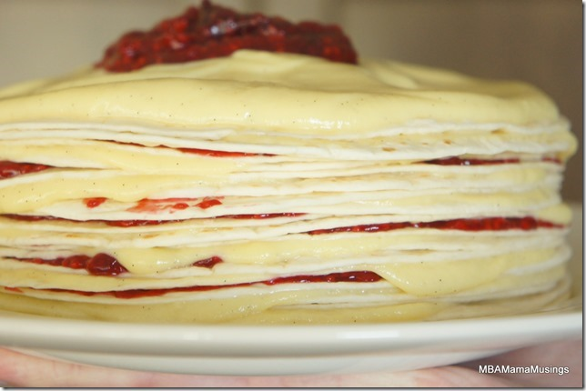 Raspberry and Vanilla Custard Layers