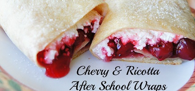 Cherry and Ricotta After School Wraps