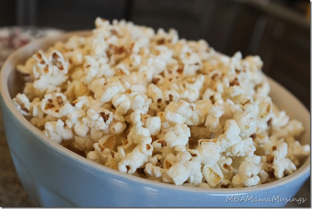 Bowl of Freshly Made Homemade Popcorn