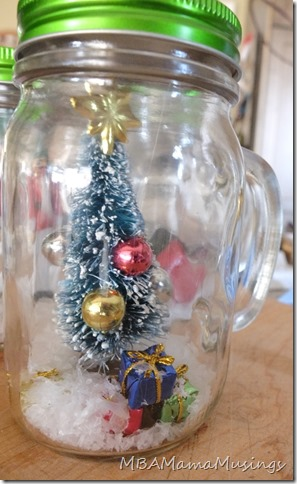 Christmas Tree Mason Jar Drinking Glass Gift