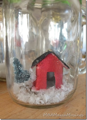 Little Red School House Mason Jar Drinking Glass Gift