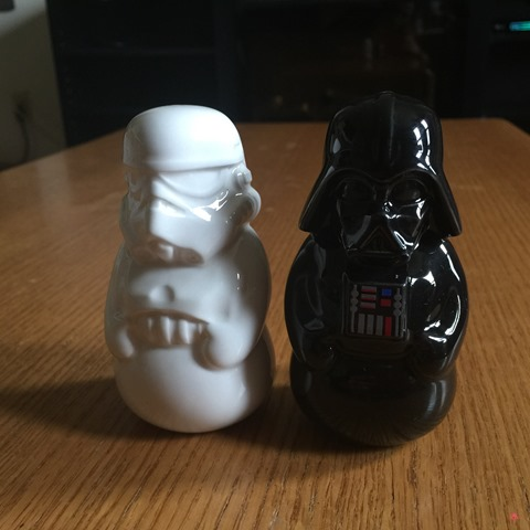 Darth Vader Storm Trooper Salt and Pepper Motherhood Experience