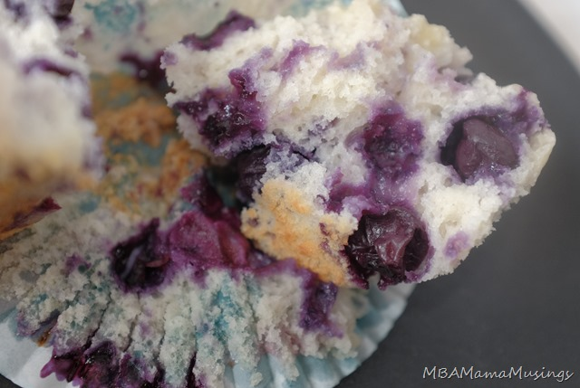 Buttermilk Blueberry Muffin Interior