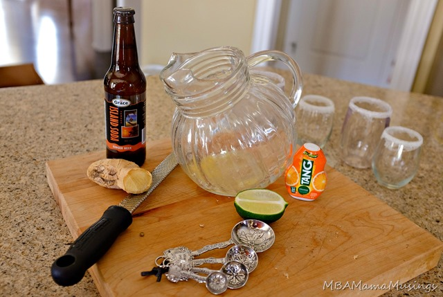 Ingredients for Orange Ginger Mocktail