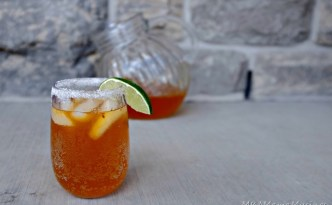 Orange Ginger Mocktail using Tang Liquid Enhancers